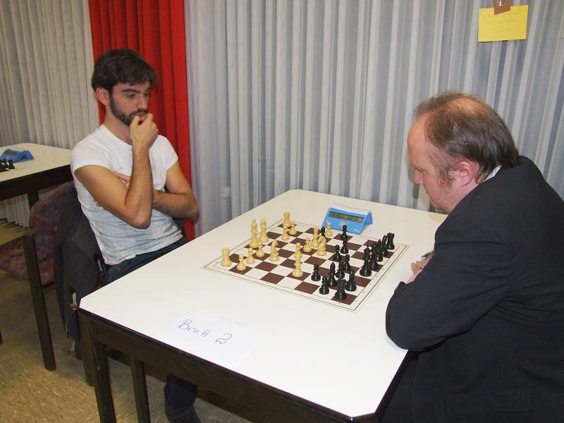 IM Ilja Schneider und GM Daniel Hausrath